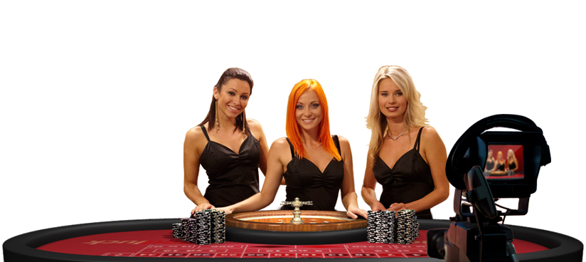 roulette and three girls